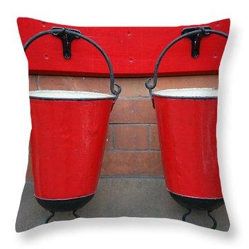 Fire Buckets Throw Pillow by Mark Severn