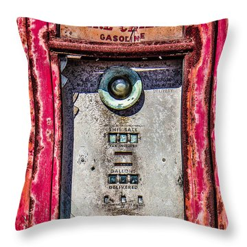 Throw Pillow featuring the photograph Fire Chief Gas by Steven Bateson