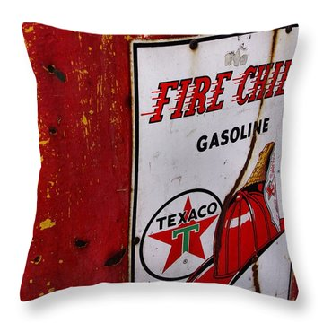 Throw Pillow featuring the photograph Fire Chief Pump by John S