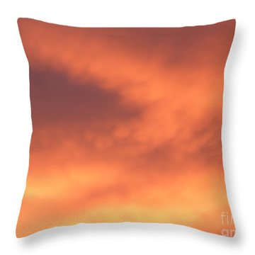 Fire Clouds Throw Pillow
