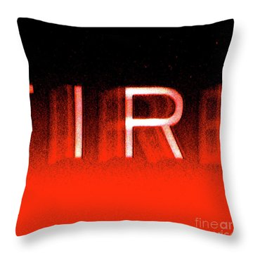 Fire Throw Pillow by CML Brown