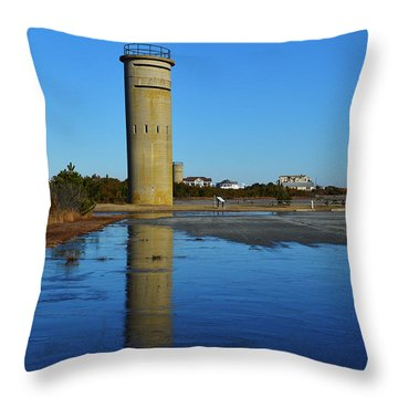 Fire Control Tower 3 Icy Reflection Throw Pillow