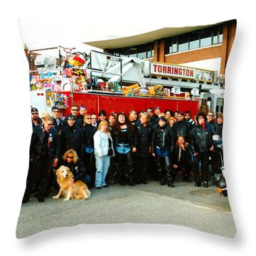 Fire Dept. Toy Run Throw Pillow by Jesse Ciazza