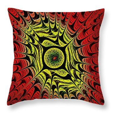 Fire Dragon Eye Throw Pillow by Anastasiya Malakhova