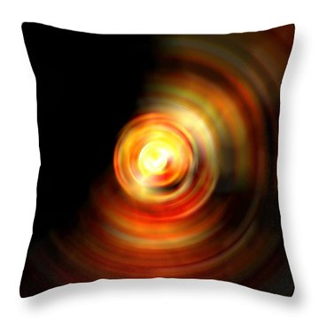 Fire Drop Throw Pillow by Carlee Ojeda