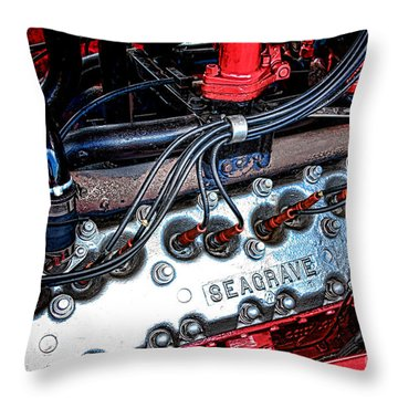 Fire Engine Engine Throw Pillow