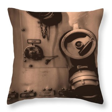 Fire Engine Number Six Throw Pillow