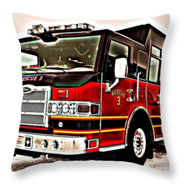 Fire Engine Red Throw Pillow by Frozen in Time Fine Art Photography