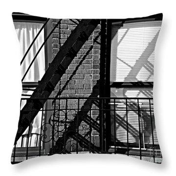 Fire Escape Throw Pillow by James Aiken
