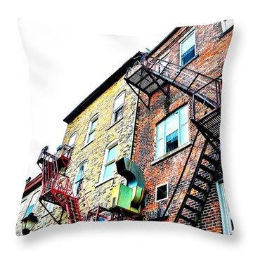 Fire Escape Lattice - Ontario - Canada Throw Pillow