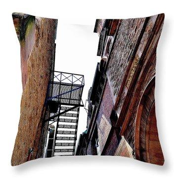 Fire Escape Pompous - Ontario - Canada Throw Pillow