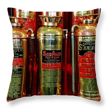 Fire Extinguishers Throw Pillow