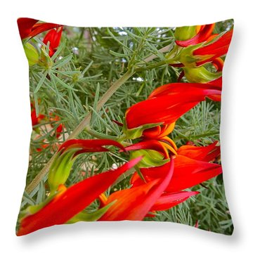 Fire Flowers Throw Pillow