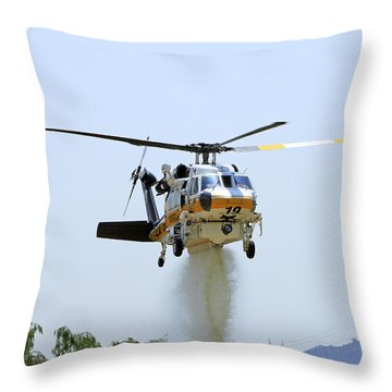 Fire Hawk Water Drop Throw Pillow