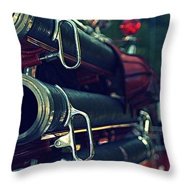 Fire Hoses Throw Pillow