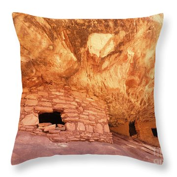 Fire House Indian Ruins Throw Pillow