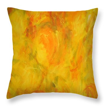 The Golden Fall Throw Pillow