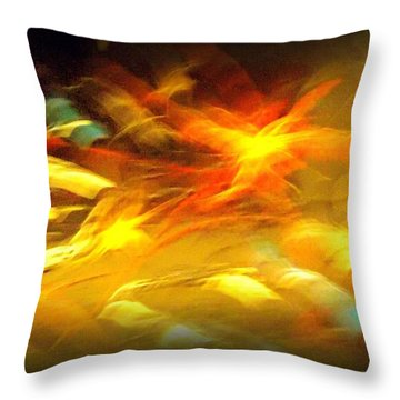 Fire In Motion Throw Pillow