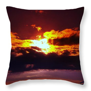 Fire In The Clouds Throw Pillow by Jeff Swan