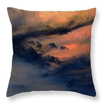 Fire In The Hills Throw Pillow