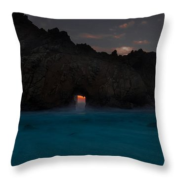 Fire In The Hole.... Big Sur Throw Pillow