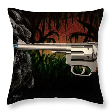 Fire In The Jungle Throw Pillow
