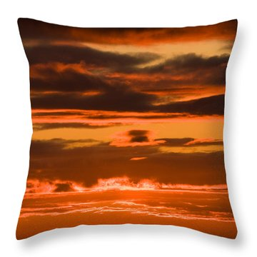 Fire In The Sky Throw Pillow by Anne Gilbert