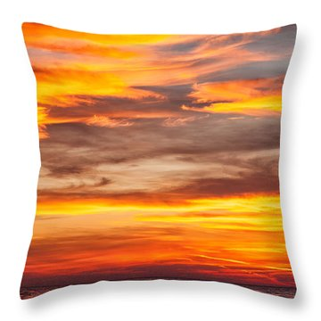 Fire In The Sky Throw Pillow by Brian Boudreau