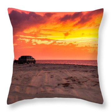 Fire In The Sky Throw Pillow by Brian Caldwell