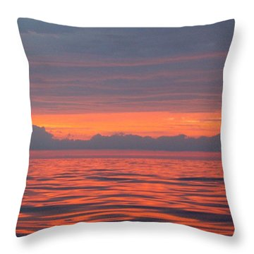 Fire In The Sky Throw Pillow