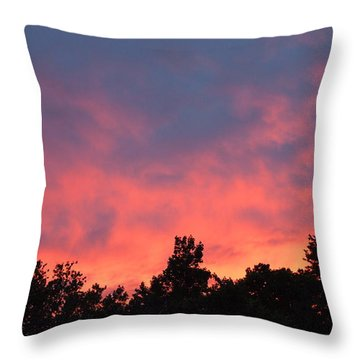 Throw Pillow featuring the photograph Fire In The Sky by Deborah Fay