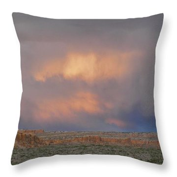 Fire In The Sky Throw Pillow by Feva  Fotos