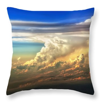 Fire In The Sky From 35000 Feet Throw Pillow