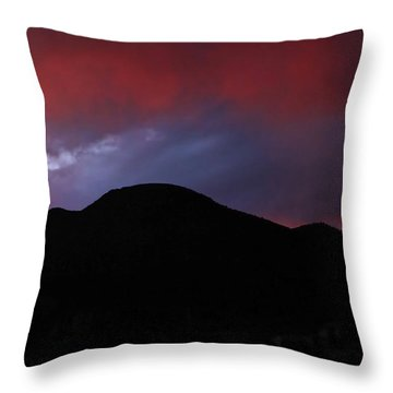 Fire In The Sky Throw Pillow by Kandy Hurley