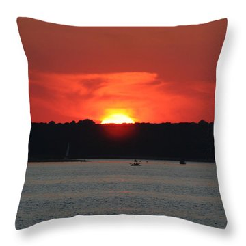 Throw Pillow featuring the photograph Fire In The Sky by Karen Silvestri