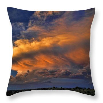 Fire In The Sky Throw Pillow by Karen Slagle