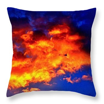 Fire In The Sky Throw Pillow by Margaret Newcomb