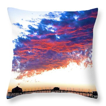 Fire In The Sky Throw Pillow by Margie Amberge
