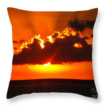Fire In The Sky Throw Pillow by Patti Whitten