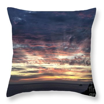Fire In The Sky Throw Pillow by Sandra Bronstein