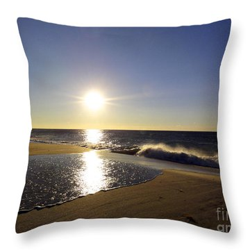 Fire Island Sunday Morning - 13 Throw Pillow