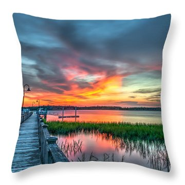 Fire Light Throw Pillow