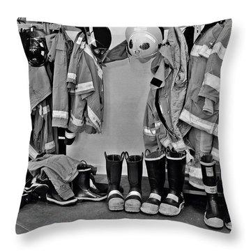 Fire Museum Beaumont Tx Throw Pillow by Christine Till