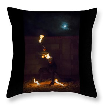 Fire Ninja Throw Pillow