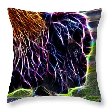 Fire Of A Bison  Throw Pillow