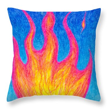 Fire Of Life Throw Pillow