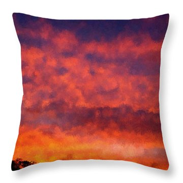 Fire On The Hillside Throw Pillow by Bruce Nutting