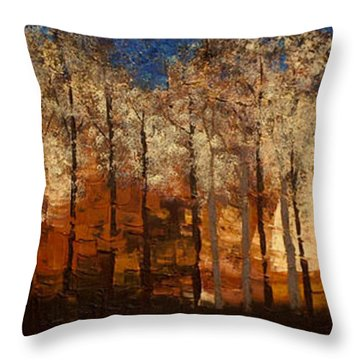 Fire On The Mountain Throw Pillow by Linda Bailey