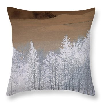 Throw Pillow featuring the photograph Fire On The Peaks by Tom Kelly