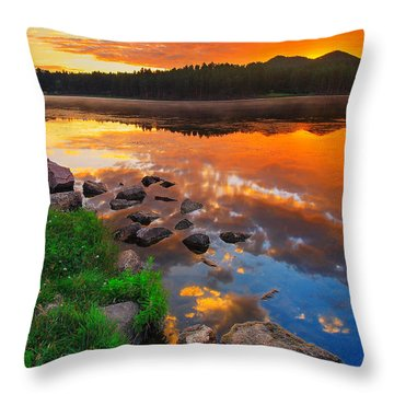 Fire On Water Throw Pillow
